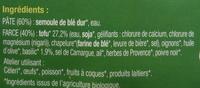 Ravioli Tofu Basilic - Inhaltsstoffe - fr