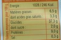 Ravioli Potimarron Emmenthal - Informations nutritionnelles - fr
