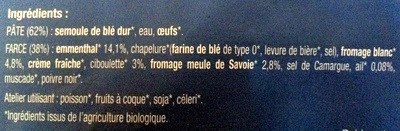 Ravioles fromages ail et fines herbes - Ingrediënten - fr