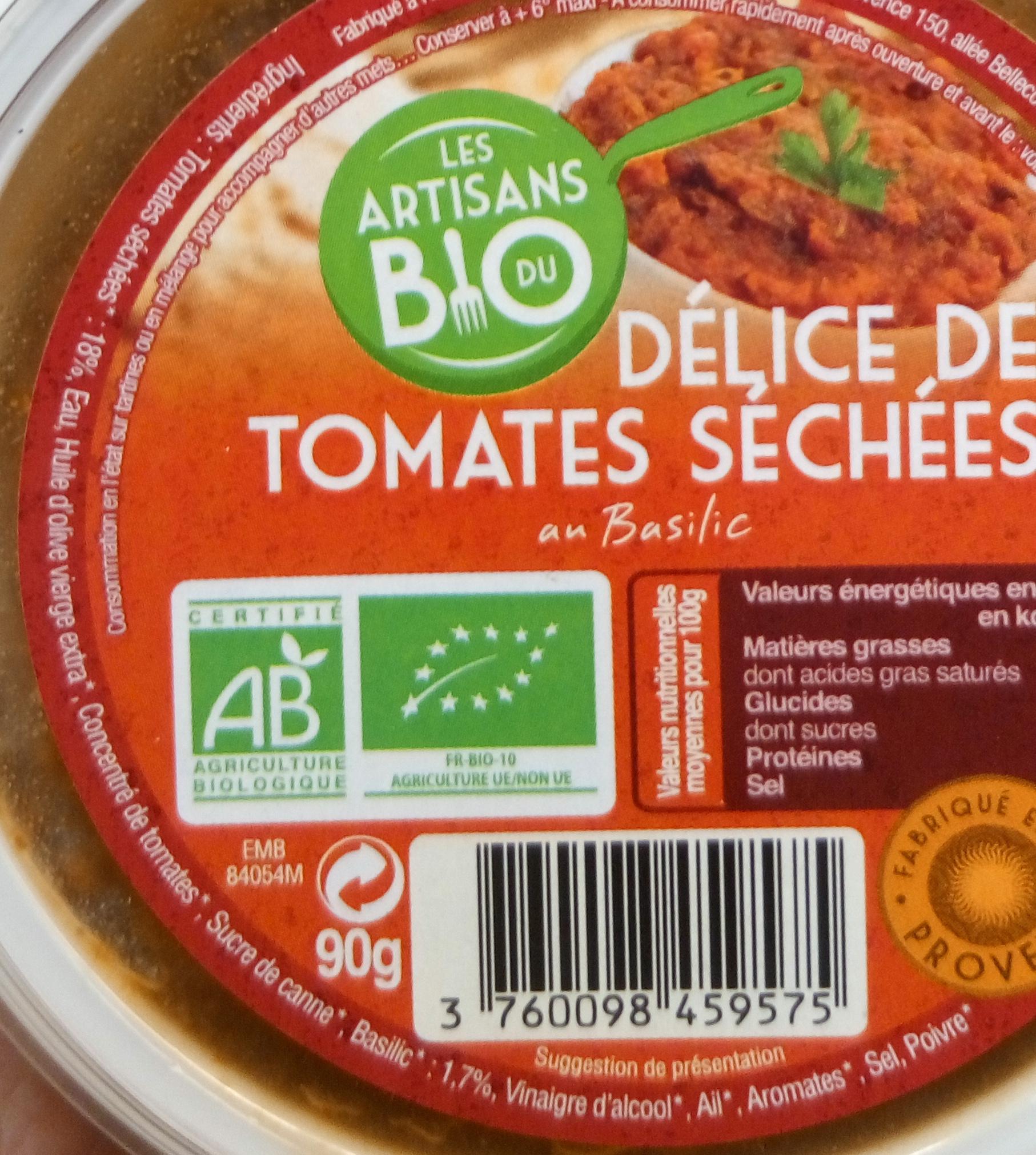 Délice de Tomates Séchées au Basilic - Ingredients - fr