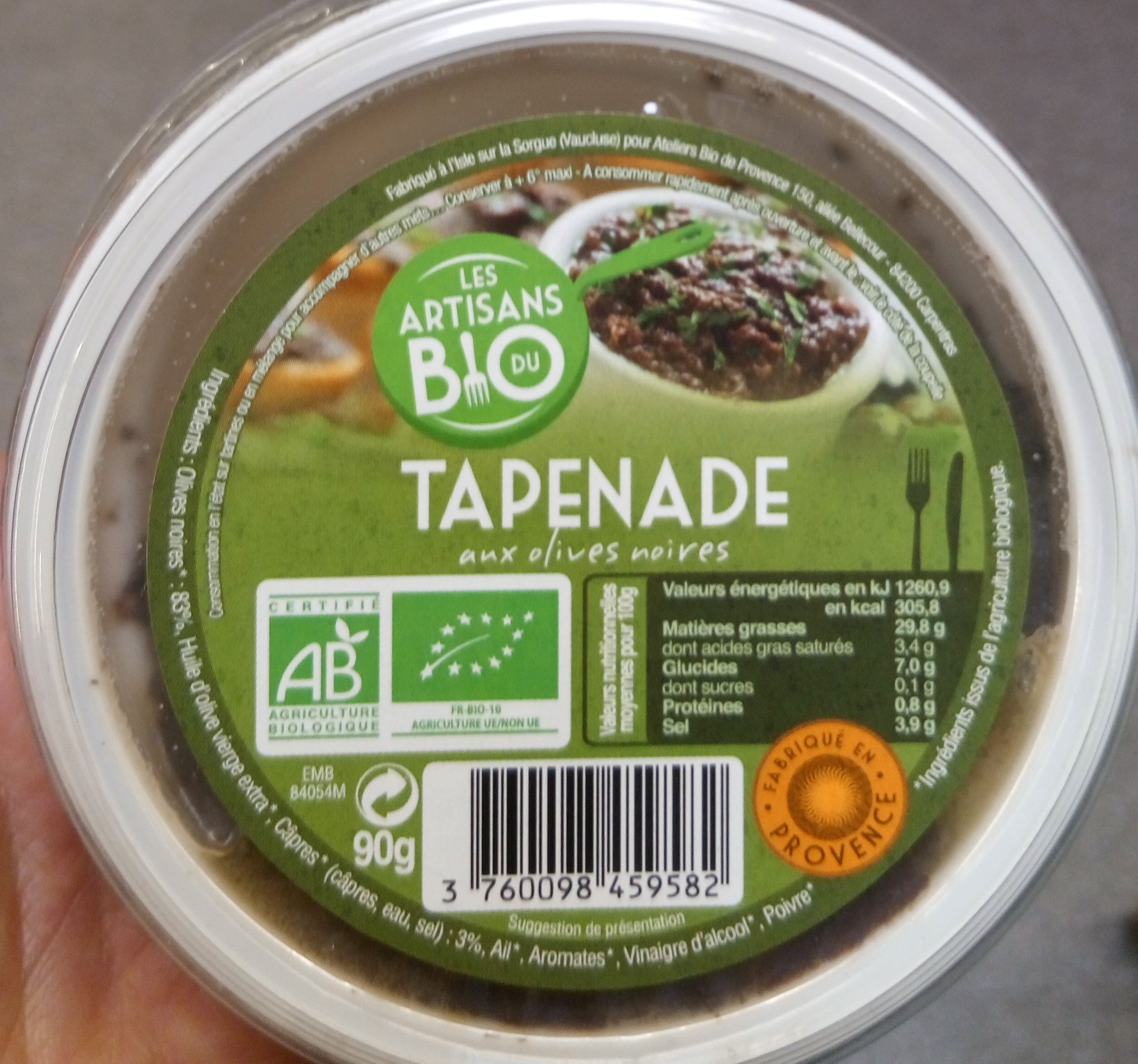 Tapenade aux olives noires - Produkt - fr