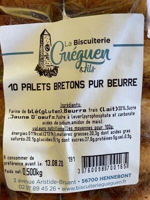 Palets Bretons pur beurre - Prodotto - fr
