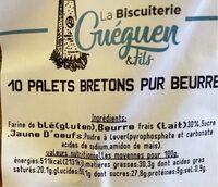 Palets Bretons pur beurre - Valori nutrizionali - fr