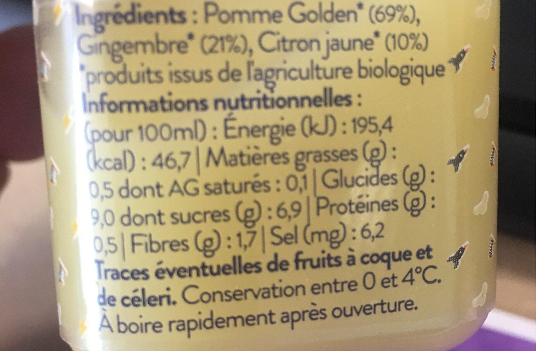 Le Coup de Foudre - Ingredients - fr