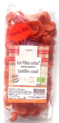 Les Pâtes Celtes Lentilles Corail Bio - Produit