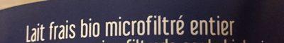 LAIT FRAIS ENTIER MICROFILTRE - Ingrédients - fr