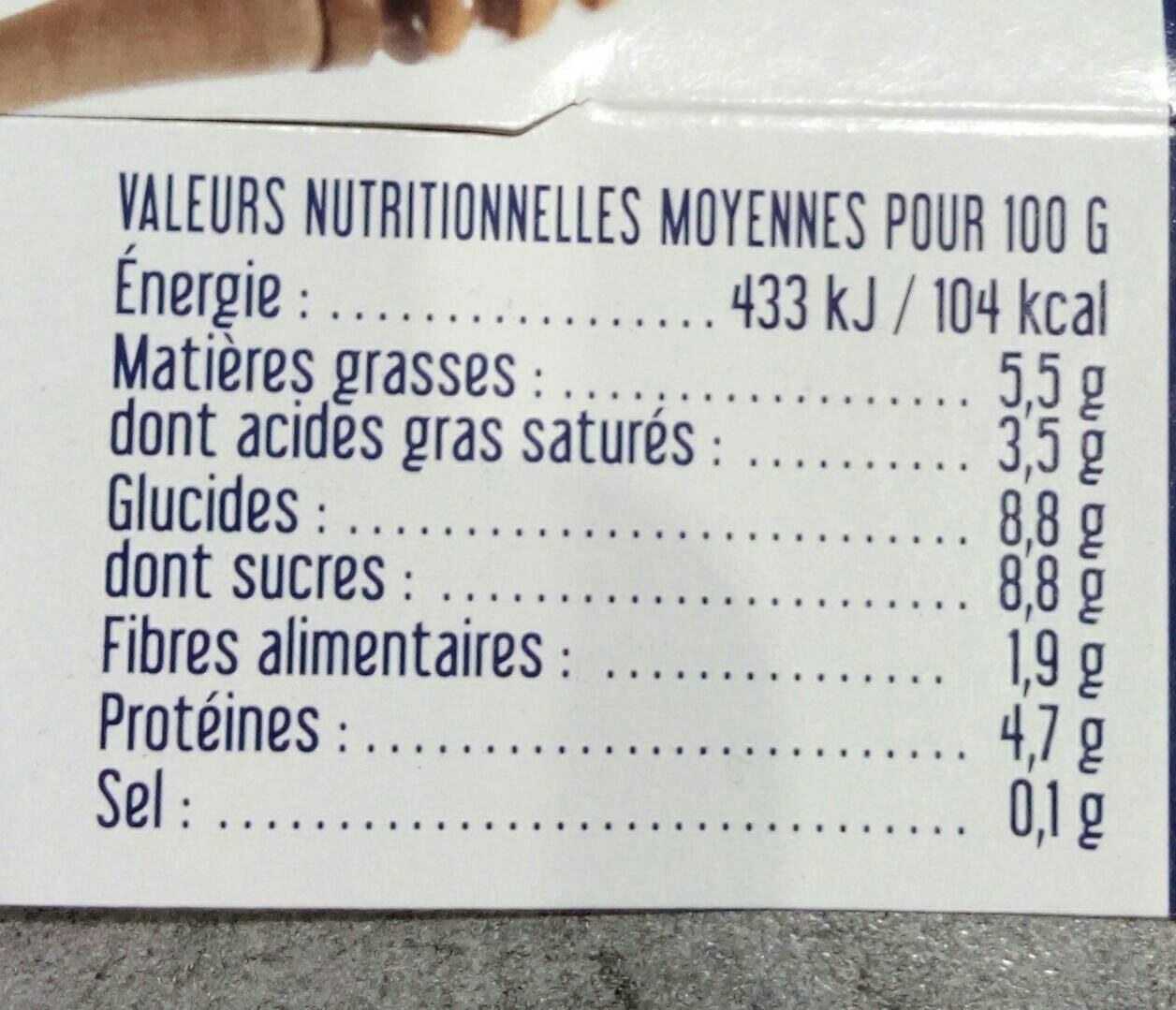 Yaourt Au Lait Entier Brebis Au Miel - Voedingswaarden