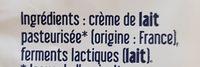 Beurre de Baratte Doux - Ingredients