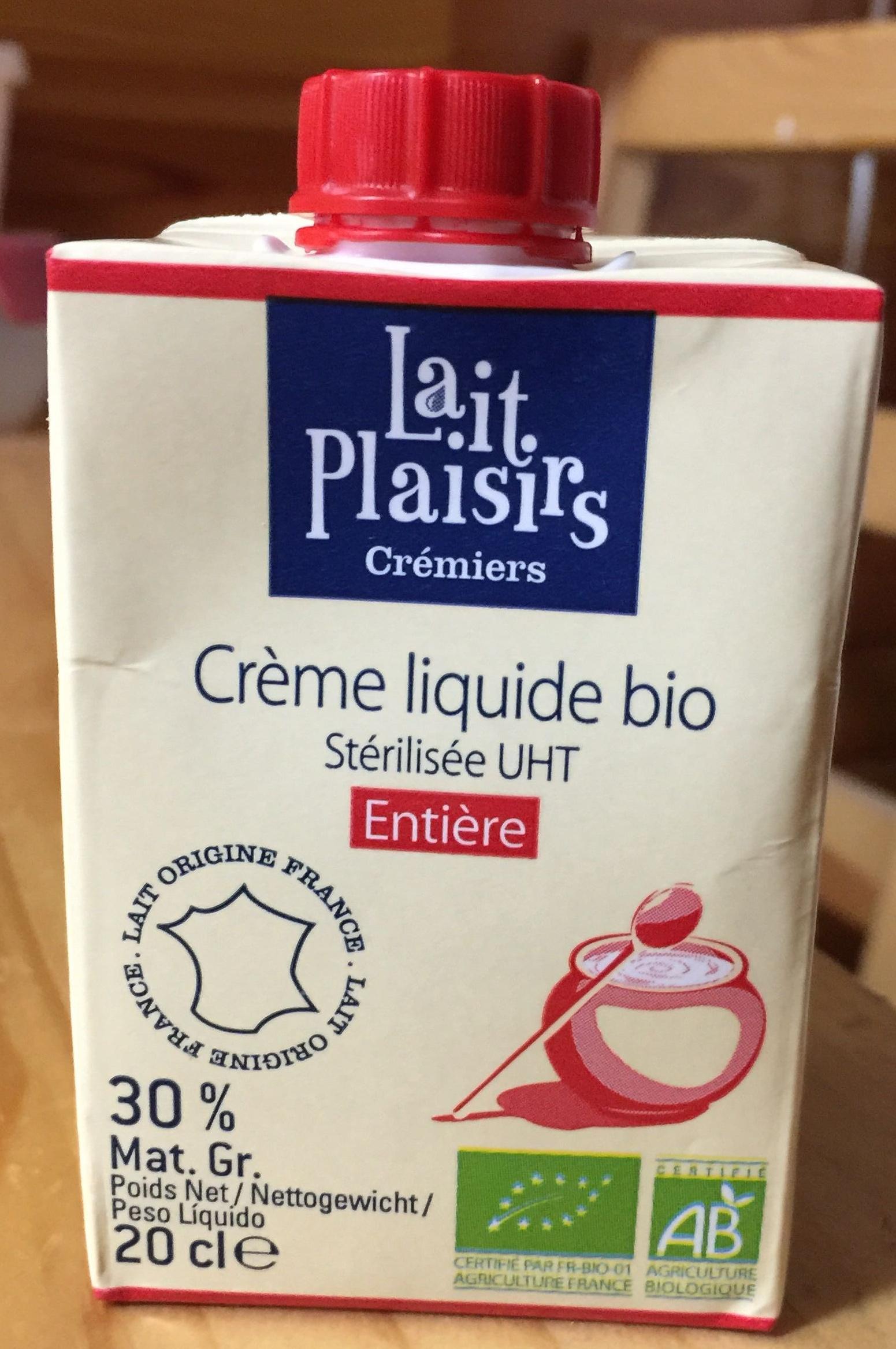 Crème liquide bio, Stérilisé UHT, Entière (30 % MG) - Product