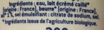 Cancoillotte Ail Bio - Ingredients - fr