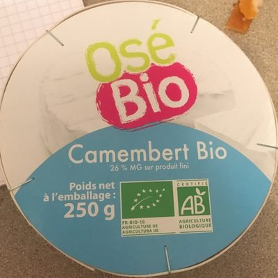 Camembert Bio (26 % MG) - Product