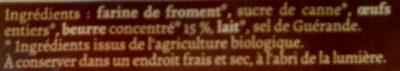 La Gaufre Bio Pur Beurre - Ingrédients