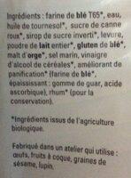 Pain de mie Nature - Ingredients - fr