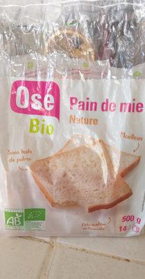 Pain de mie Nature - Nutrition facts - fr