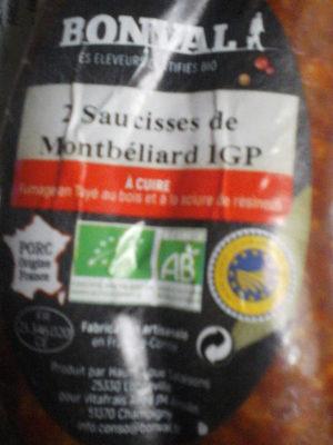 Saucisse de Montbéliard IGP X2 - Product