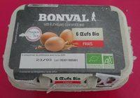 6 oeufs bio frais - Product
