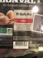 Boite De 15 Oeufs Petit 45-3 - Ingrédients - fr
