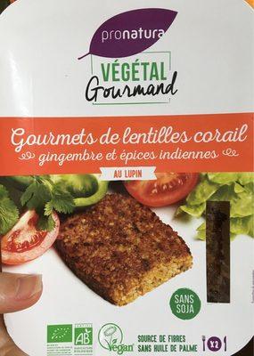 Gourmets de Lentilles Corail Gingembre et épices Indiennes au Lupin - Produit