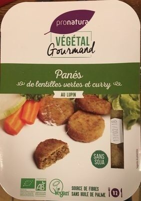 Panés de lentilles vertes et curry - Produit - fr