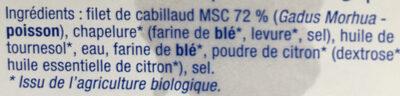 Cabillaud - Ingrediënten - fr