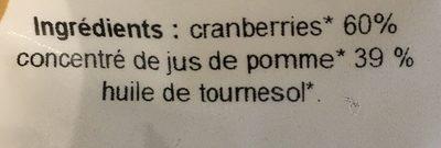 Cranberries - Ingrediënten - fr