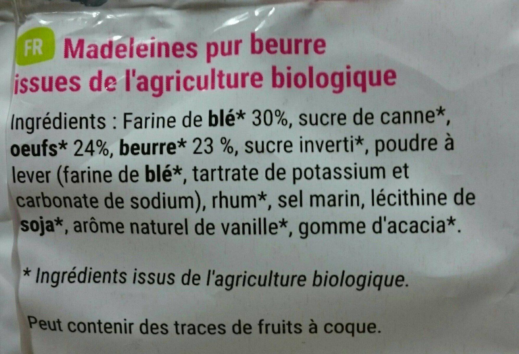 madeleines longues pur beurre - Ingrediënten