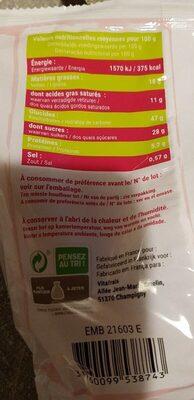 madeleines longues pur beurre - Voedigswaarden