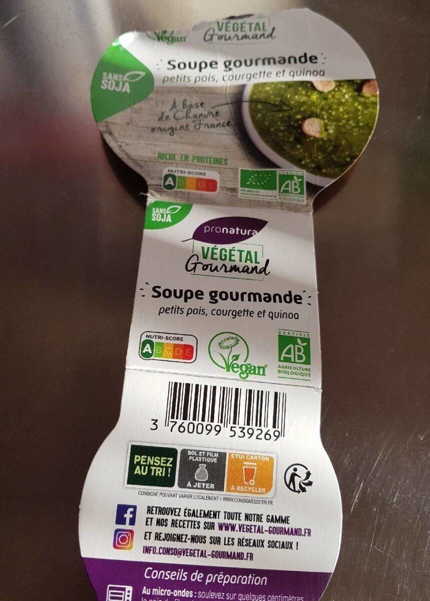 Soupe gourmande petits pois, courgette et quinoa - Produit - fr
