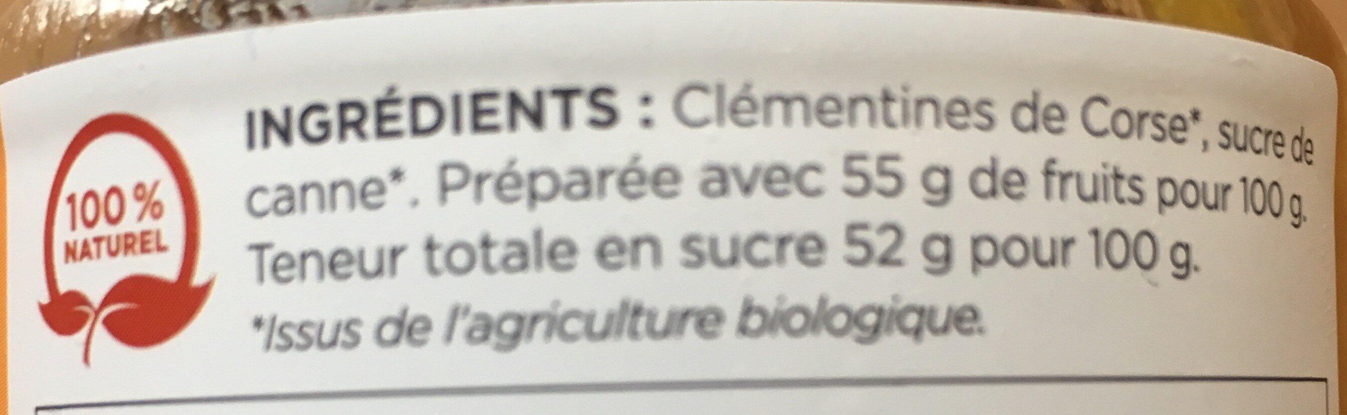 Confiture Clémentine de Corse - Ingredients
