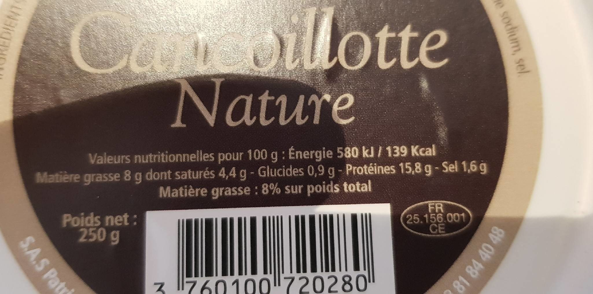 Cancoillotte Nature - Ingredients - fr