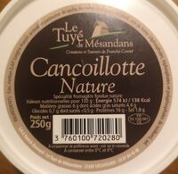 Cancoillotte Nature - Nutrition facts - fr