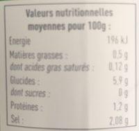 Ketchup Basque - Informations nutritionnelles - fr
