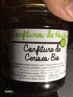 Confiture de cerise bio - Ingrédients - fr