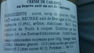 Crème de Caramel au Beurre Salé et au Sel de Guérande - Ingrédients