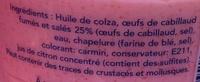 Tarama aux œufs de cabillaud (25 %) - Ingredients