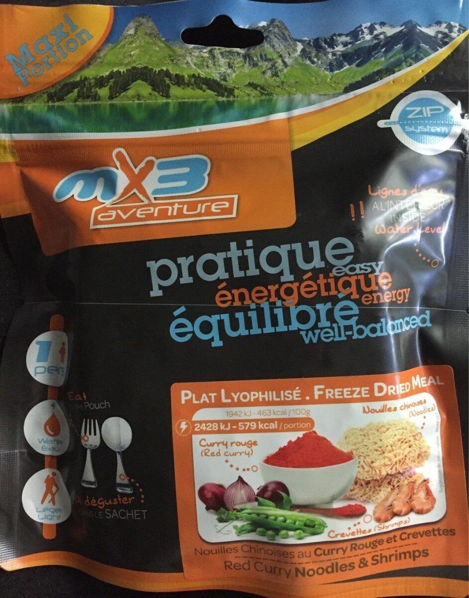 Plat lyophilisé - Nouilles chinoises au curry rouge et crevettes - Product - fr