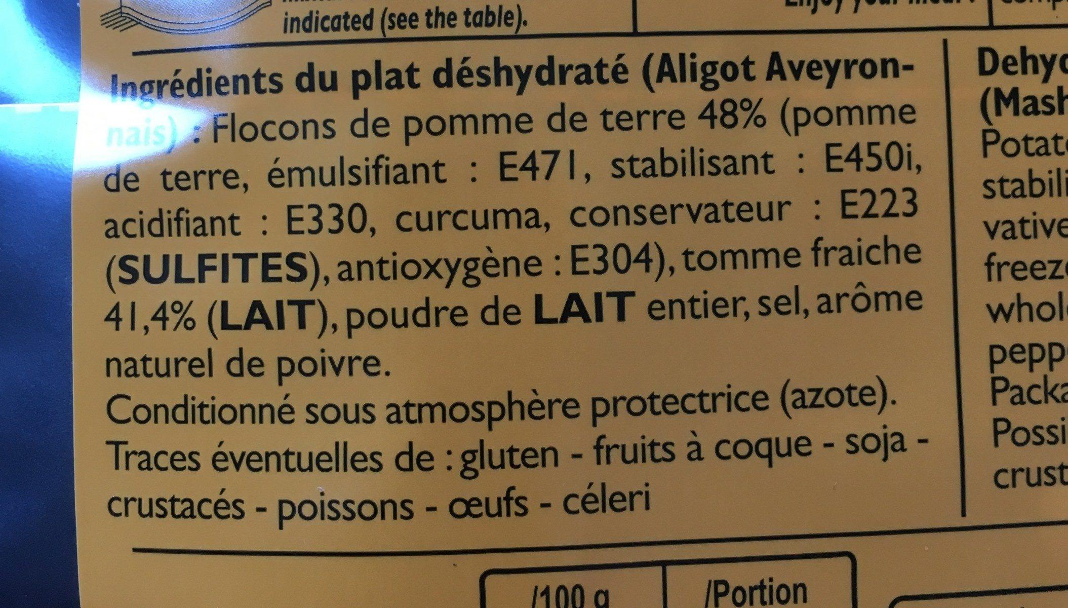 Aligot Français - Ingrediënten - fr