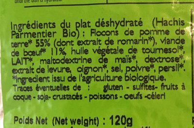 Hachis parmentier - Ingredients - fr