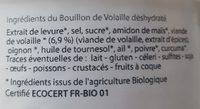 Bouillon de volaille bio - Ingrédients - fr