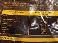 Instant choco - Informations nutritionnelles