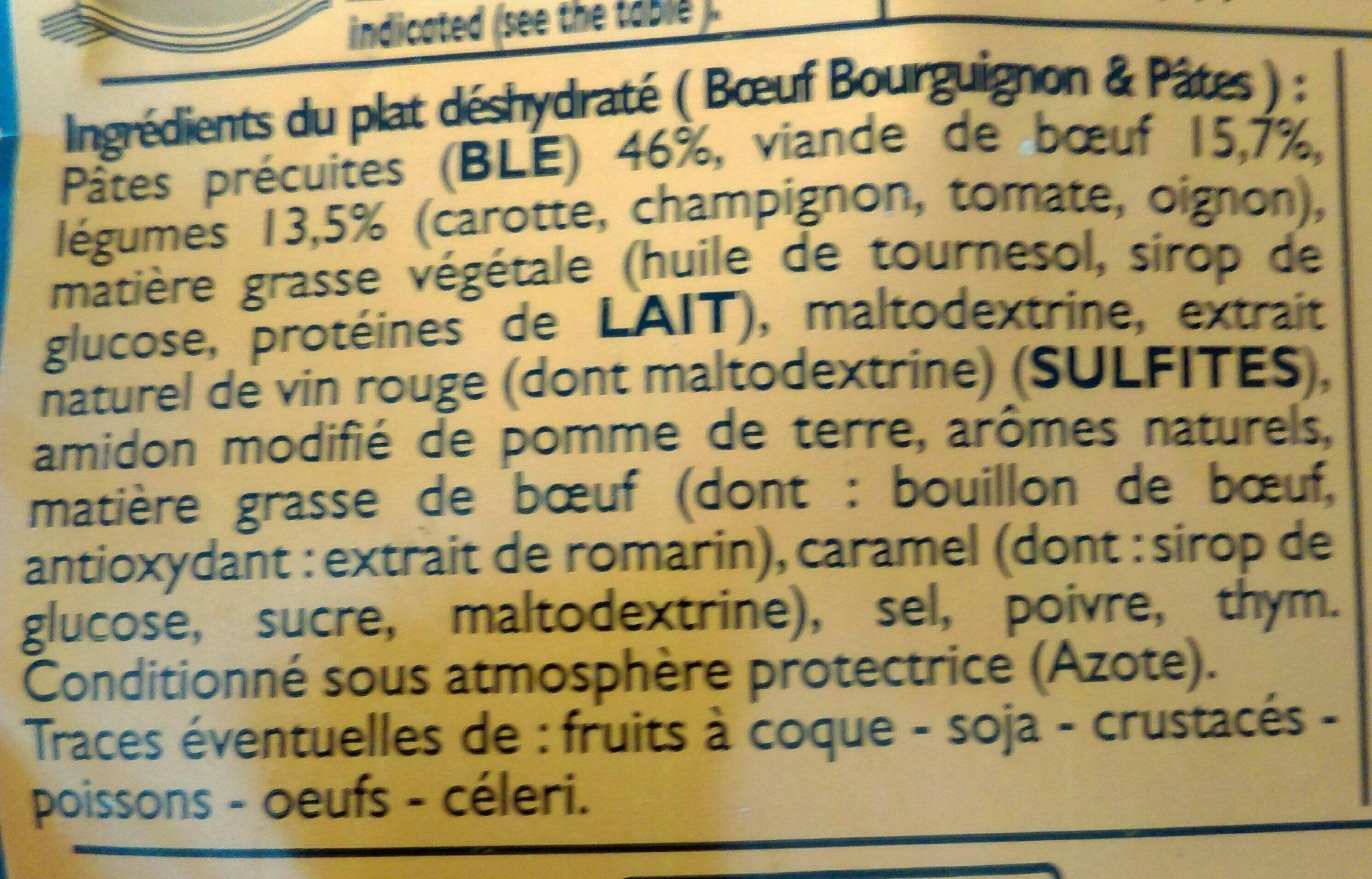 Boeuf bourguignon et pâtes - Ingrediënten - fr