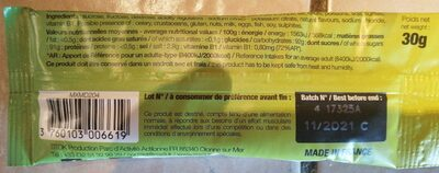 Mix Drink Isotonic sport drink - Informations nutritionnelles - fr