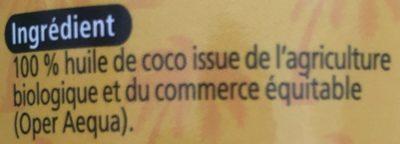 Huiles De Coco Bio - Ingredients