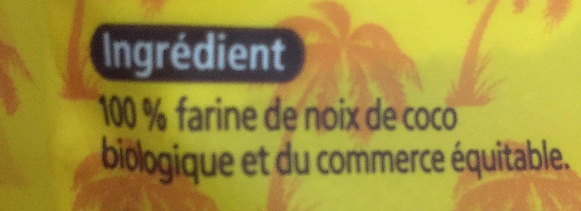 Farine de coco non raffinée - Ingrédients - fr