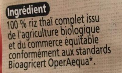 Riz Thai Complet - Ingredients - fr