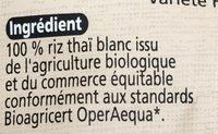 Riz Thai Blanc - Ingrédients - fr