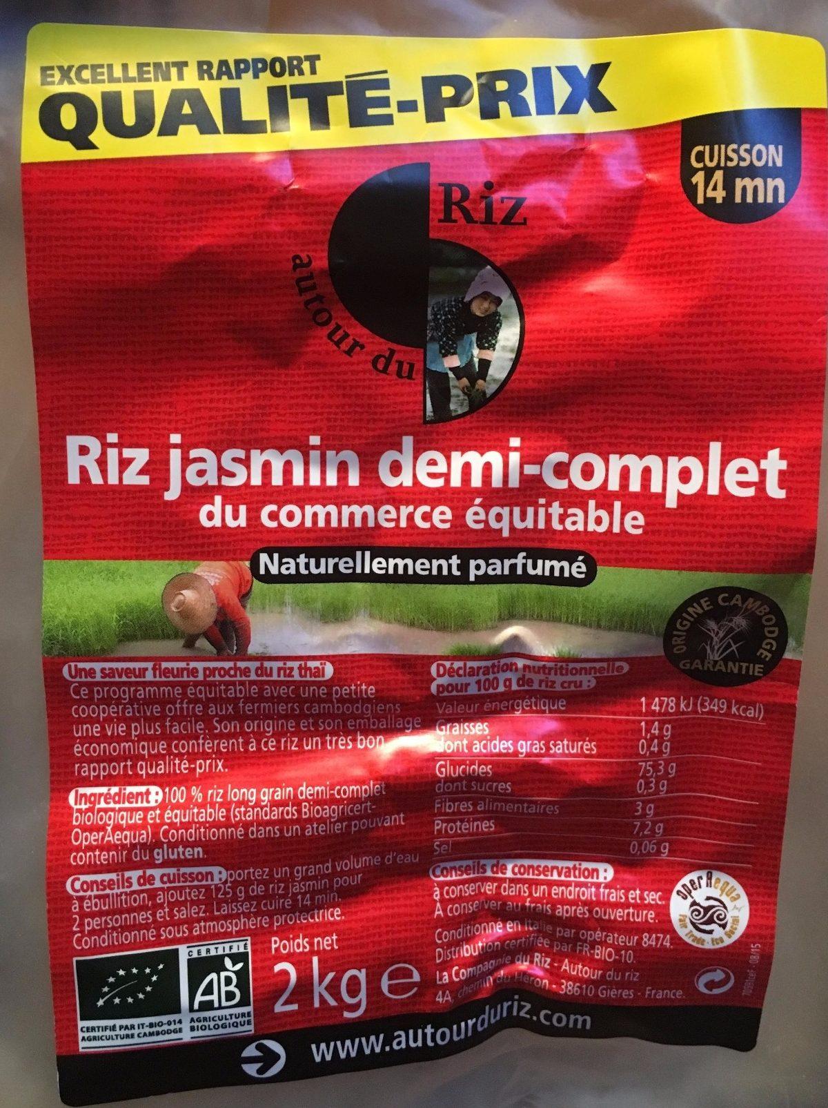 Riz Jasmin demi-complet - Produit