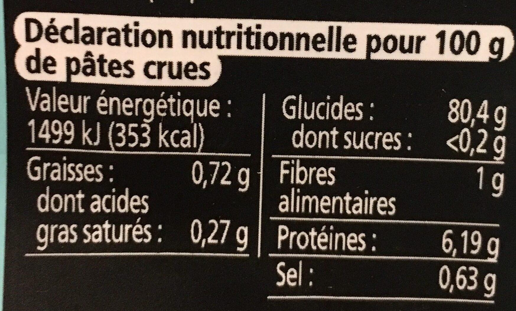 Tagliatelles De Riz Thai - Valori nutrizionali - fr