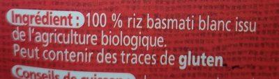 Riz Basmati Blanc - Ingrédients - fr