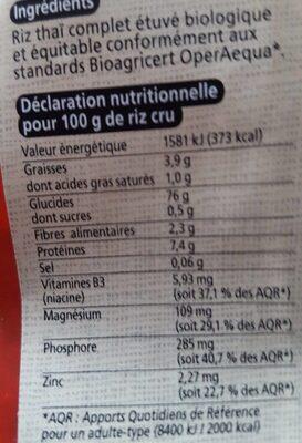 Melange Riz Germe Gaba Commerce Equitable - Nutrition facts - fr